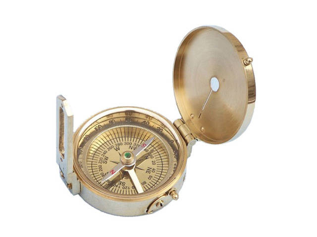Brass World War II Compass 2.5