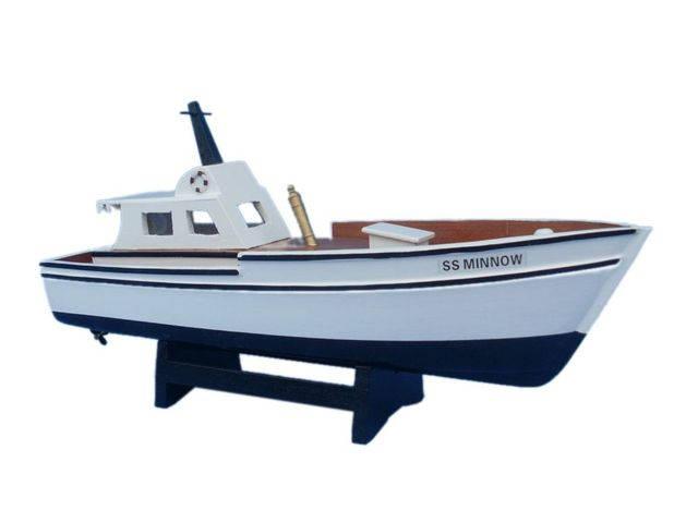 Wooden Gilligans Island - Minnow Model Boat 14