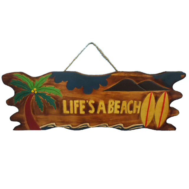 Wooden Lifes a Beach Sign 24