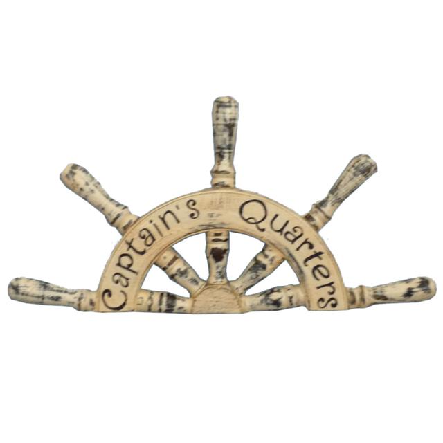 Wooden Captains Quarters Ship Wheel Plaque 19