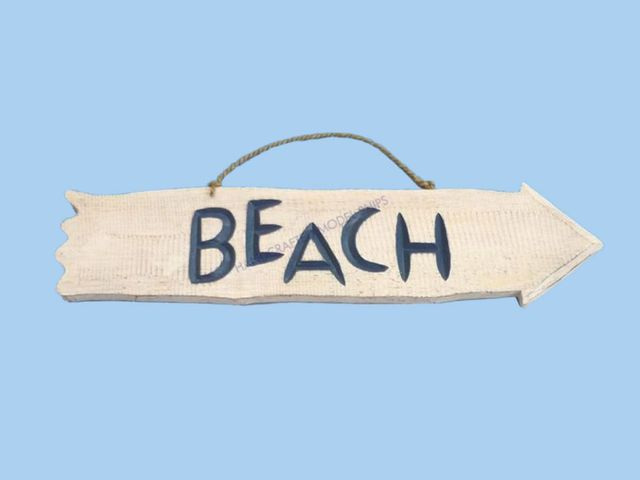 Wooden Beach Arrow Beach Sign 20