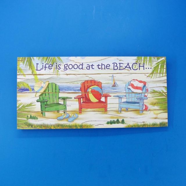Wooden Life is Good Beach Chair Plaque 16