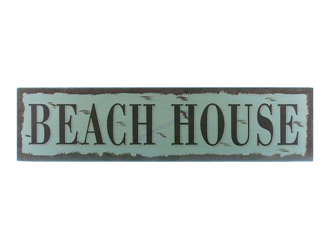 Wooden Beach House Beach Life Sign 24