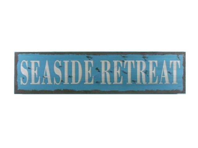 Wooden Seaside Retreat Beach Life Sign 24