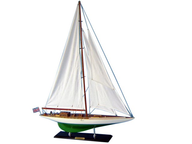 Wooden Shamrock Limited Model Sailboat Decoration 35