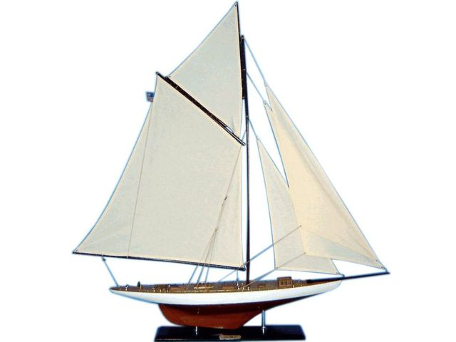 Wooden Columbia Limited Model Sailboat Decoration 45