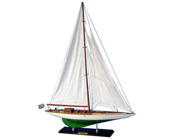 Wooden Shamrock Limited Model Sailboat Decoration 44