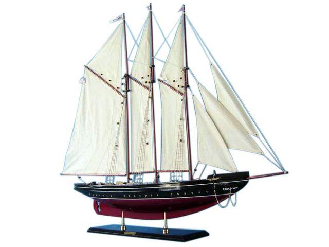 Wooden Atlantic Limited Model Sailboat Decoration 50