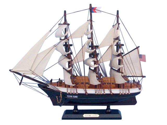 Wooden Flying Cloud Tall Model Clipper Ship 15