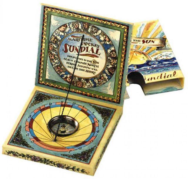 Maritime Pocket Sundial for Kids