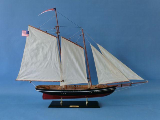 Wooden America Model Sailboat Decoration 35