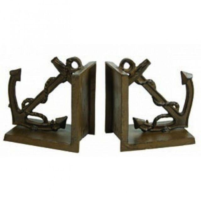 Antique Brass Anchor Bookends 5