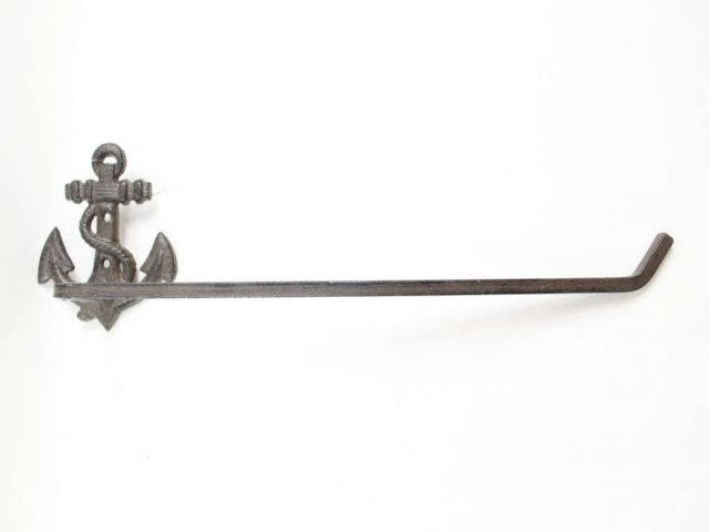 Cast Iron Anchor Wall Mounted Paper Towel Holder 17