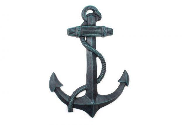 Seaworn Blue Cast Iron Anchor 17