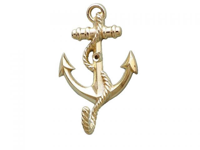 Gold Finish Anchor With Rope Hook 5