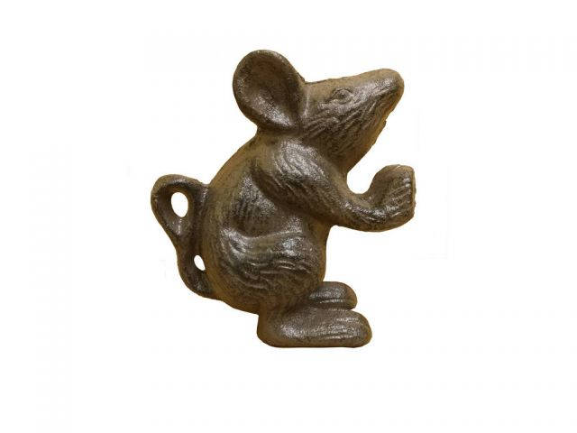 Cast Iron Mouse Door Stopper 5 From Handcrafted Model Ships