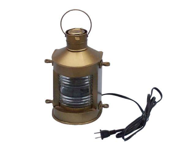 Antique Brass Masthead Electric Lamp 12