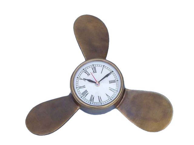 Antique Brass Decorative Ships Propeller Clock 12