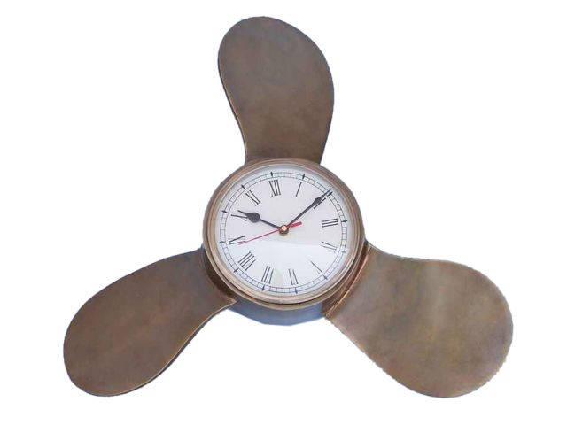 Antique Brass Decorative Ships Propeller Clock 18