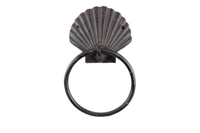 Cast Iron Seashell Towel Holder 8.5
