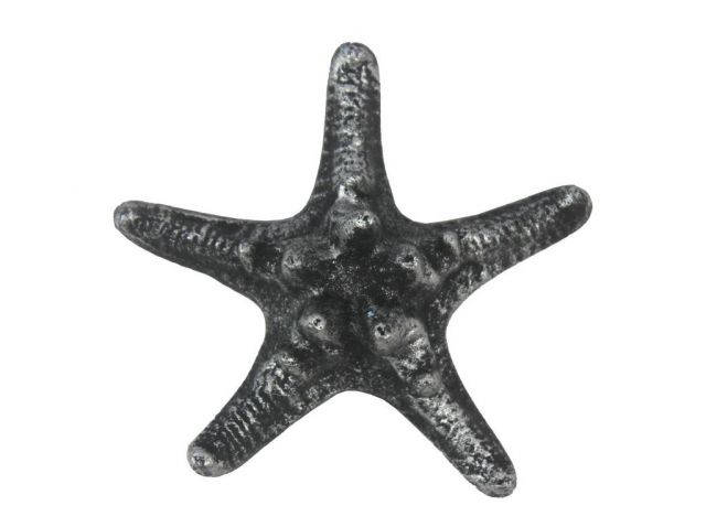 Antique Silver Cast Iron Decorative Starfish 4.5