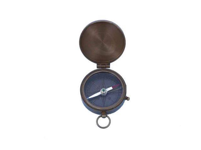 Antique Brass Lewis And Clark Pocket Compass 3