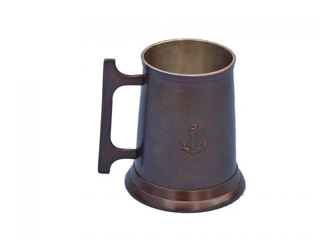 Antique Copper Anchor Mug With Cleat Handle 5