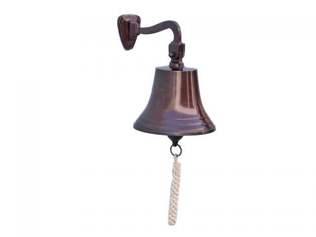 Antique Copper Hanging Ships Bell 11