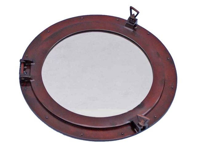 Deluxe Class Antique Copper Porthole Window 24