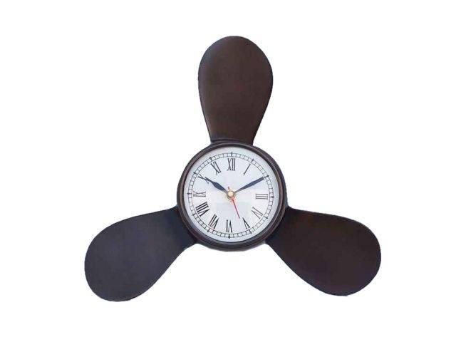 Antique Copper Decorative Ships Propeller Clock 12