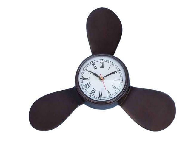 Antique Copper Decorative Ships Propeller Clock 18