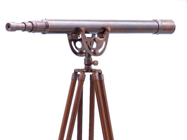 Floor Standing Antique Copper Anchormaster Telescope 65