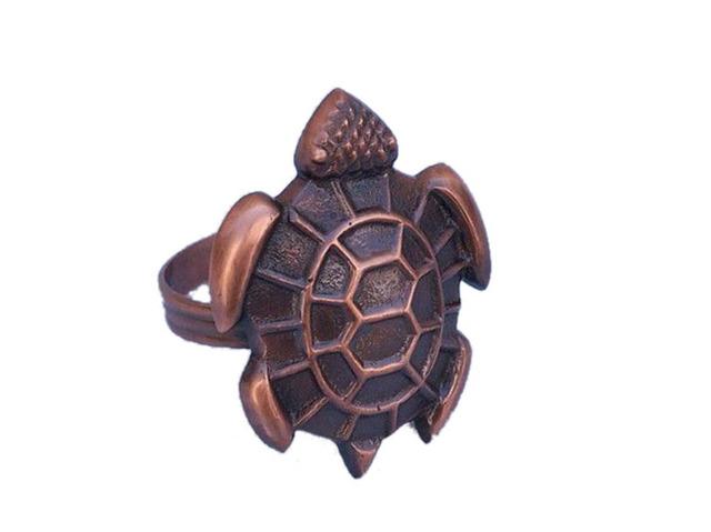Antique Copper Turtle Napkin Ring 3