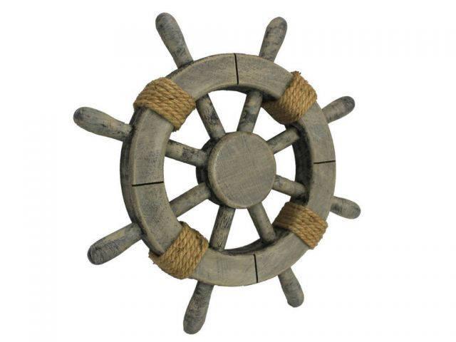 Rustic Decorative Ship Wheel 12