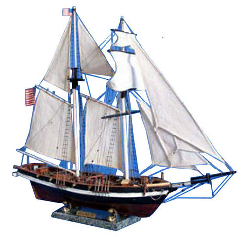 Wooden Baltimore Clipper Harvey Tall Model Ship 32