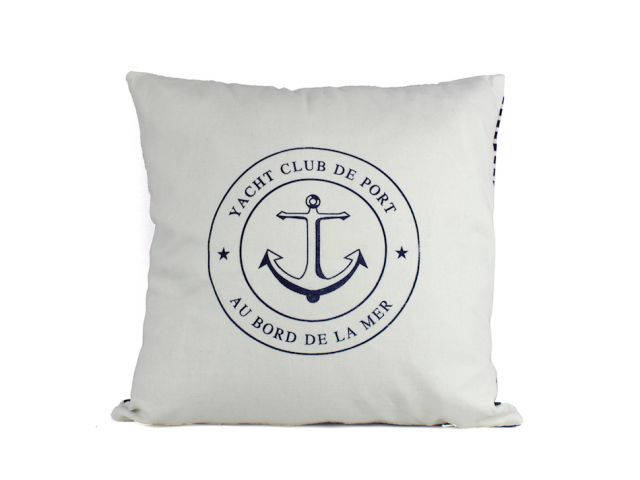 Yacht Club Anchor Decorative Throw Pillow 16