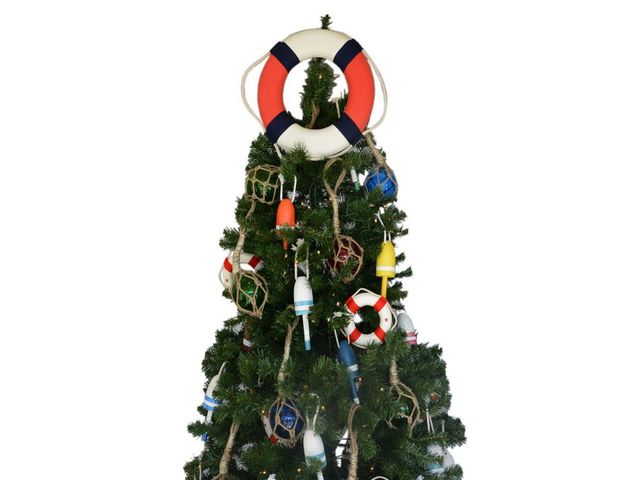 Patriotic Lifering Christmas Tree Topper Decoration
