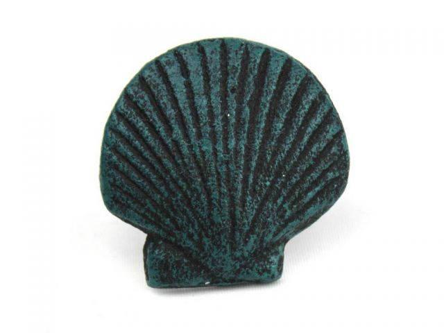 Seaworn Blue Cast Iron Seashell Napkin Ring 2 - set of 2