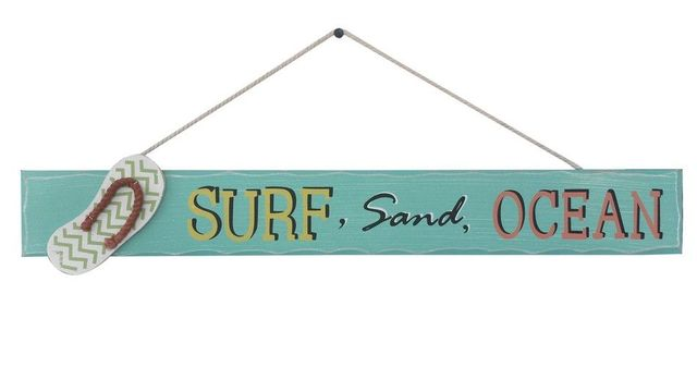 Wooden Surf Sand Ocean Beach Sign 24