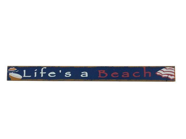 Wooden Lifes A Beach Umbrella Beach Sign 18