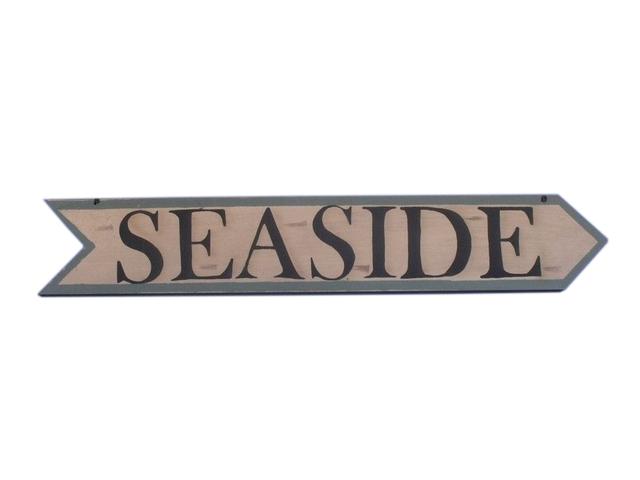 Wooden Seaside Arrow Sign 33