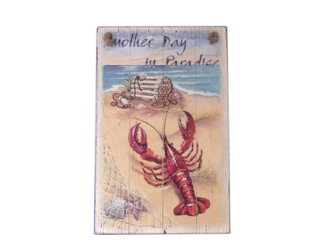Wooden Lobster Sign 16