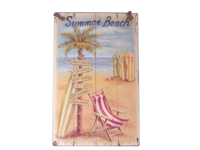 Wooden Summer Beach Sign 16