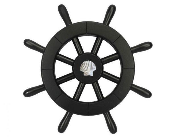 Pirate Decorative Ship Wheel With Seashell 12