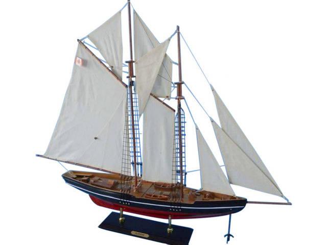 Wooden Bluenose Model Sailboat Decoration 35