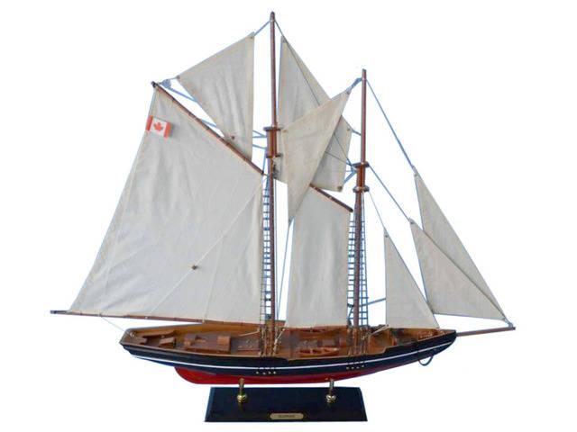 Wooden Bluenose 2 Model Sailboat Decoration 35
