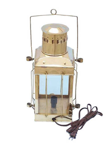 Solid Brass Cargo Electric Lamp 18