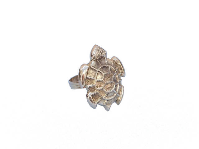Brass Turtle Napkin Rings 3