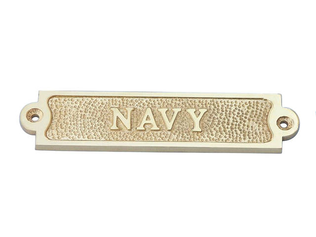 Solid Brass Navy Sign 6