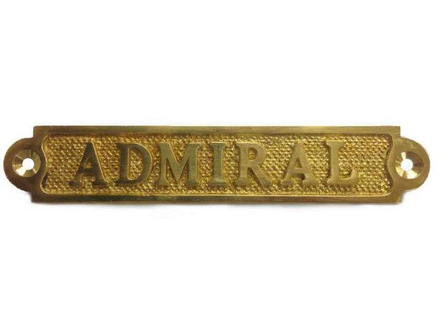 Brass Admiral Sign 5